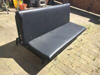 Sofa Bed ( black leather )