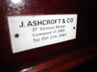 ****** BARGAIN late 1800's Rare and fantastic J Ashcroft & Co 3/4 (9x5) Antique Snooker Table ******