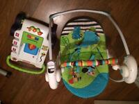 Bright Starts Baby Swing and Little Tykes Walker