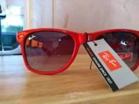 Ladies Red Ray Ban sunglasses