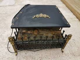 Antique fire surround electric fire