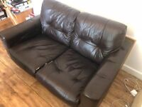 2 seat leather sofa available now.