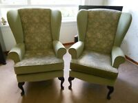 One wing back chair