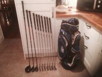Golf clubs-Jack Niclaus Golf Clubs. Driver, 3 & 4 Hybrids, Irons (5-SW) plus Mizuno Putter, IZZO bag
