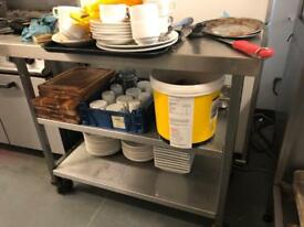 Stainless Steel commercial kitchen tables