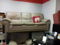 Great 3+1 seater cream leather suite