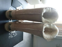 Brand New Australia Luxe Collective Wool Fleece Lined Ugg Style Beige Boots Size 36 3