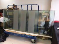 Used glass wall panels