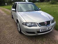 Rover 45 2005 (55) 1.6 Gls platinum silver leather. Excellent condition 12 mot low mileage