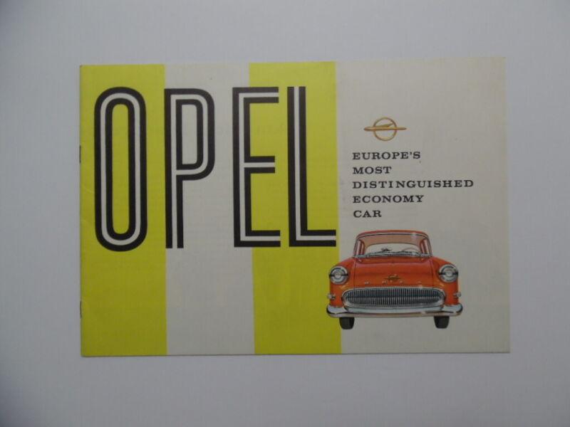 1958 Open Rekford Caravan Brochure Vintage Original