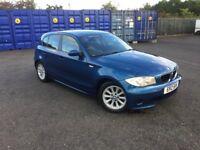 Bmw 118D Car Diesel,Blue 5 Door MOT'd excellent condition Not Audi Wolkswagon Ford Seat fiat