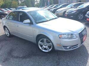 2007 Audi A4 2.0T / 6SP/LEATHER/ROOF/ALLOYS