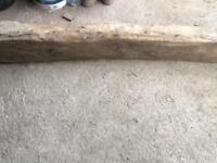 Old curved oak beam