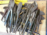 Tin snips metal sheet cutters all sizes take your pick £1 each