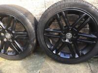 Black Vauxhall alloys