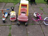 FREE KIDS CAR, BIKE, SCOOTER,