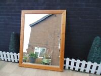 SOLID PINE FARMHOUSE EXTRA LARGE AND REALLY HEAVY WALL MIRROR EXTREMELY SOLID MIRROR