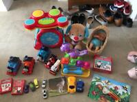 Children's toys various (fireman Sam, kitchen, drums, various other)