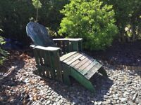 Garden seat with footstool