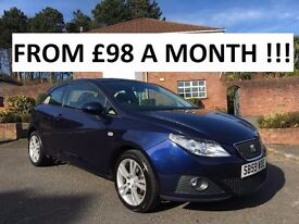 2010 SEAT IBIZA SPORT 1.4 PETROL ** ONLY 43,000 MILES ** FINANCE AVAILABLE ** ALL CARDS ACCEPTED