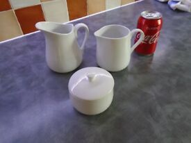 2 Jugs and 1 Sugar Basin with lid