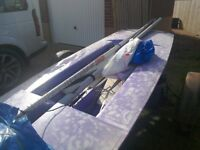 Topper Sailing Dinghy. With launching trolley and road trailer