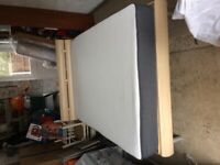 Queen Size Bed ( European ) with Casper Foam Mattress. In good clean condition. Pet and smoke free.