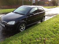 Vauxhall Corsa in black with alloys