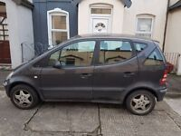 Bargain Mercedes A Class 2002 for parts or somebedy who need a cheap car.