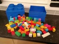 Genuine LEGO Duplo My First Blocks & Number Set, and LEGO Brick Storage Box