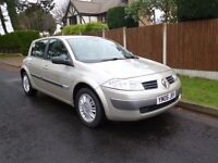 AUTOMATIC 1.6,2006 RENAULT MEGANE ONLY DONE 44,000 MILES
