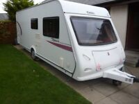 ELDDIS XPLORE 544 CARAVAN, 2011 MODEL, FIXED BED