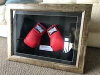 Very RARE Signed Framed Thomas Hearns & Emanuel Steward Lonsdale Boxing Glove