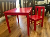 Table and chair - for small children