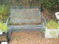 vintage french style metal garden swing rocking bench
