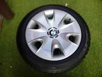 bmw series 1 winter tyres on steel wheels with trims 205 55r 16 91h run flat mud and snow dunlop sp