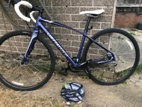 Women's Specialized Purple Dolce 51cms Road Bike, ridden once! With matching helmet