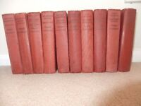 10 Old Books by H G Wells Odhams Press Ltd Red Good condition