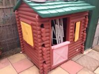Little Tikes Log Cabin with original phone and table lovely condition