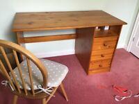 Pine 3 Drawer Desk for sale.