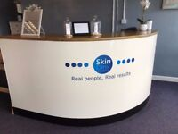 Curved Reception Desk/Counter With Solid Oak Top - Free Delivery In Southampton