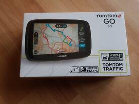 Brand New and sealed TomTom GO 50 5 inch Sat Nav Western European Maps Lifetime Map Traffic Updates