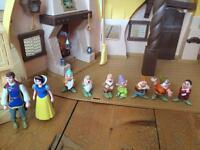 Snow White doll house plus figures