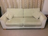 Harvey's beige 3 seater sofa / settee in good condition - £45