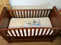 Solid cot good condition & watch a dream monitor with baby sense breathing