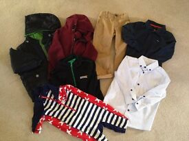 Boys age 3 & 3-4, 7 items - NEXT Coat,chinos, swimsuit,BENCH polo,fleece,shirt,hooded zipped sweater