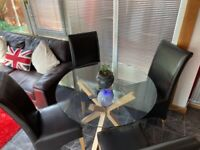 STUNNING DINING TABLE AND CHAIRS WITH CUSTOM FEATURES - PLEASE LOOK AT ALL PICS