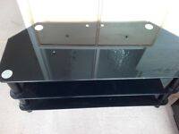 Black/silver tv stand