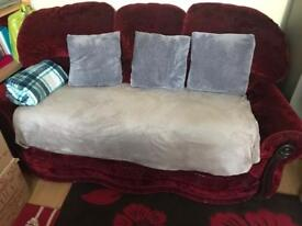 Maroon Red 3 seater Sofa