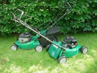 QUALCAST 46SP ROTARY SELF PROPELLED PETROL LAWN MOWER 148cc + ANOTHER IDENTICAL - BOTH RUNNING ORDER